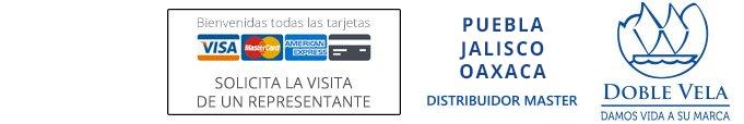 Aceptamos tarjetas de credito, somos distribuidores autorizados de la marca Doble Vela