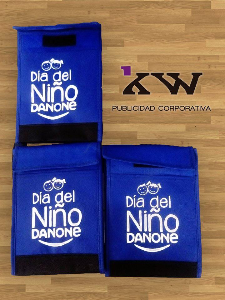 Bolsa impresa en serigrafia #diadelniño para empresa DANONE 1, Trabajos Recientes