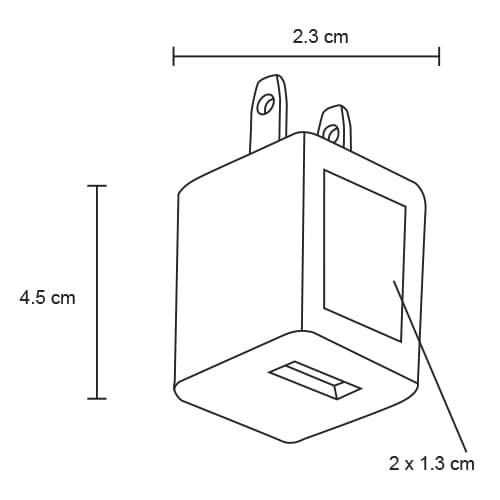 Adaptador de corriente con entrada USB