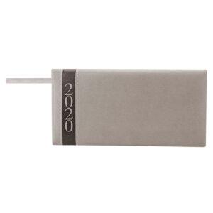 AGB 020 G agenda de bolsillo clasica 2020 gris