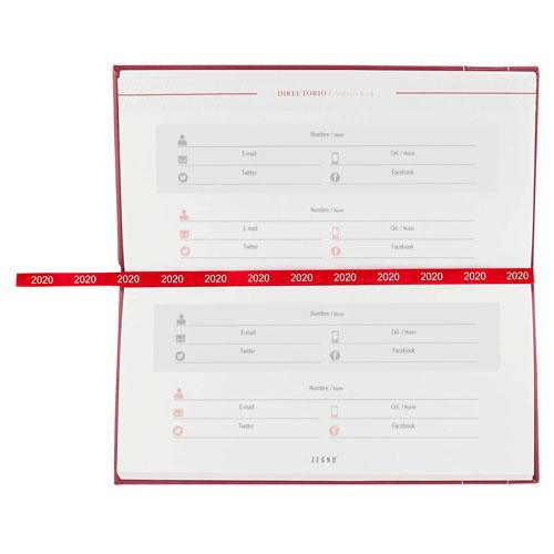 AGB 020 T agenda de bolsillo clasica 2020 tinto 3