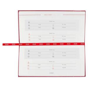 AGB 020 T agenda de bolsillo clasica 2020 tinto