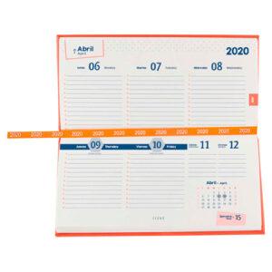 AGBT 020 O agenda de bolsillo terra 2020 naranja