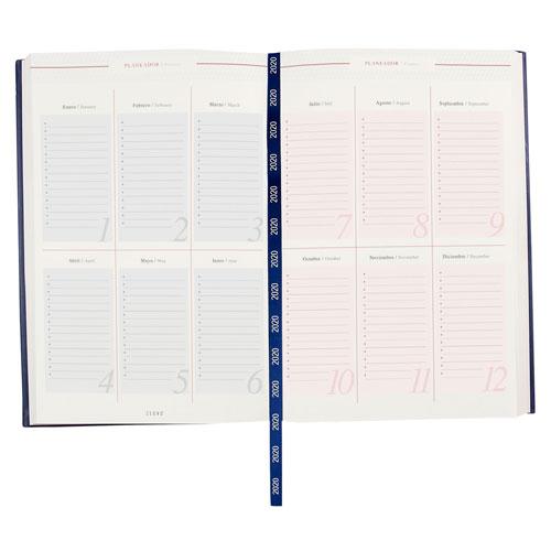 AGD 020 A agenda diaria clasica 2020 azul 2