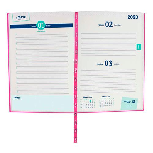 AGT 020 P agenda diaria terra 2020 color rosa