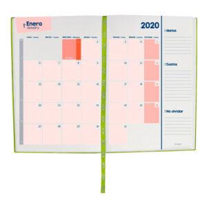 AGT 020 V agenda diaria terra 2020 color verde