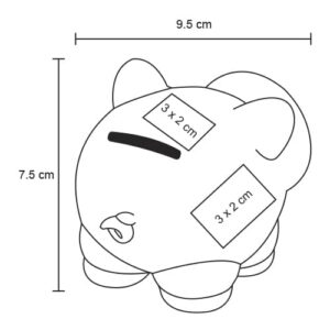 Alcancía en forma de cerdito con nariz-9