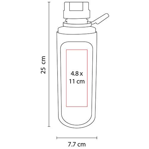 ANF 008 R cilindro kali color rojo translucido 2