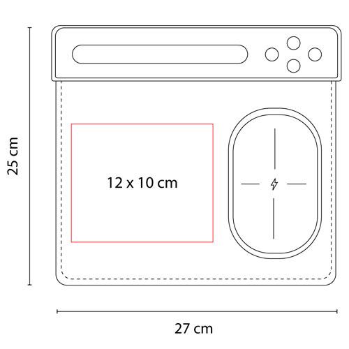 AST 002 N mouse pad cargador agadir negro 4