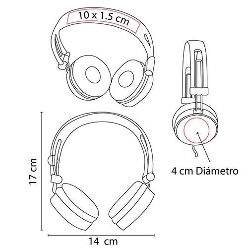 AUD 001 B audifonos mega beat 5