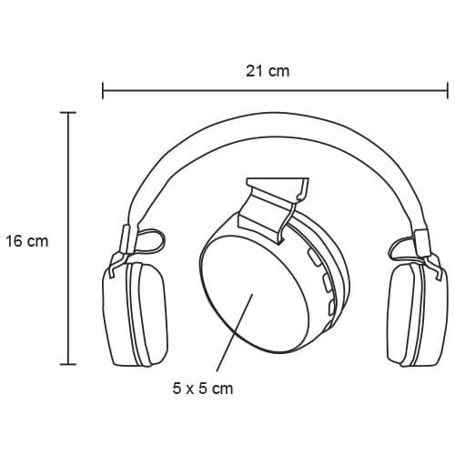 Audífonos Bluetooth plegables con-2
