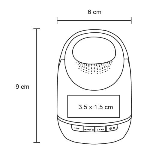 Bocina portátil con acabado rubber-4