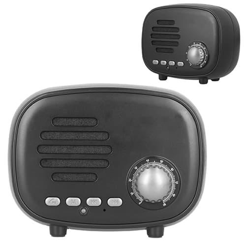 Bocina portátil estilo vintage con radio-3
