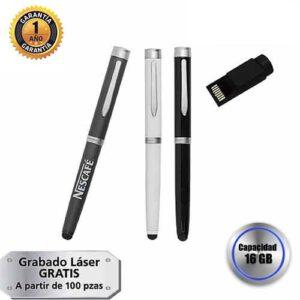 Bolígrafo con USB Cap.16 GB y touch