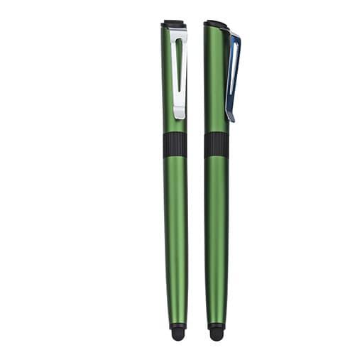 Bolígrafo de aluminio con goma touch-4