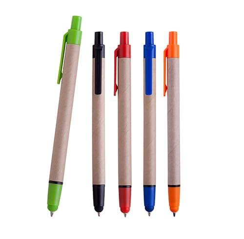 Bolígrafo de cartón con goma touch