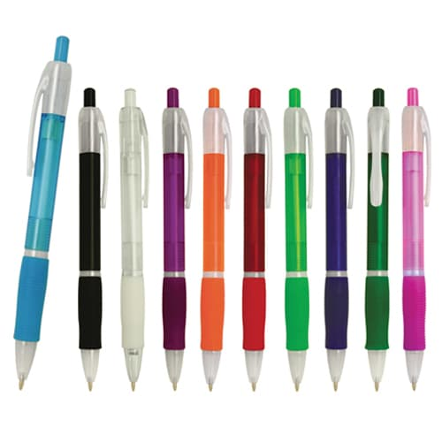 Bolígrafo de plástico con clip frozen y