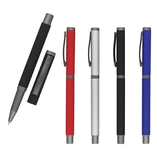 Bolígrafo metálico acabado rubber con