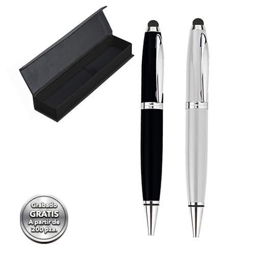 Bolígrafo metálico con goma touch screen