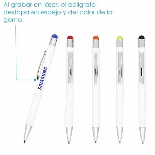 Bolígrafo metálico con mecanismo de