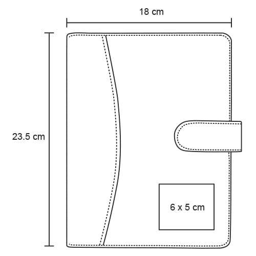 Carpeta de curpiel con block de rayas y-3