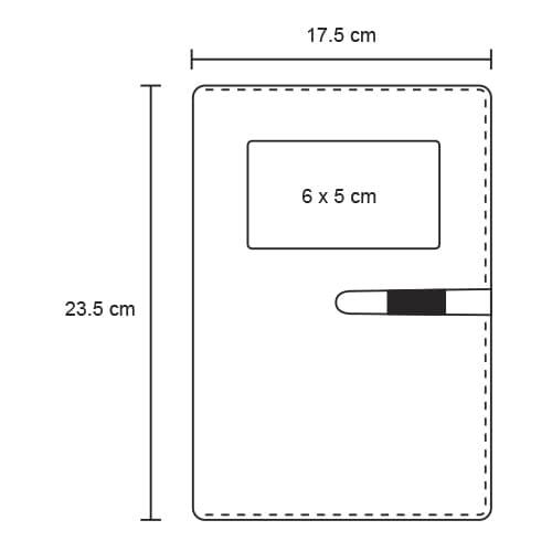 Carpeta de poliéster con block de 98-2