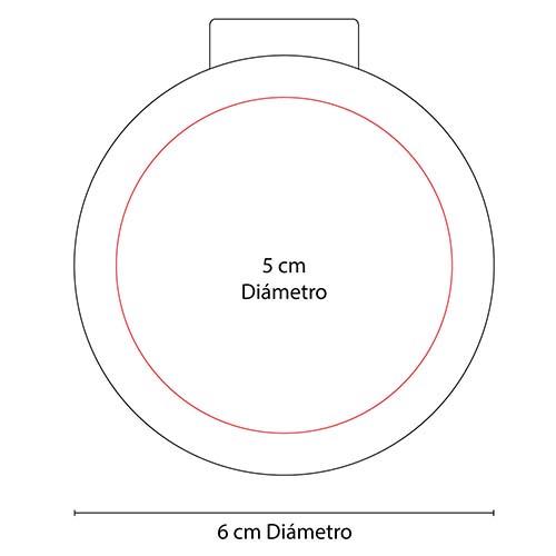 DAM 560 PT espejo fancy color rosa 3