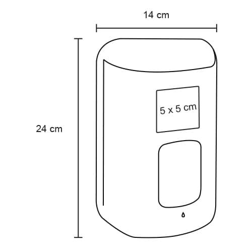 Dispensador de plástico automático con-2
