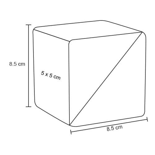 Estuche ecológico en forma de cubo.-2