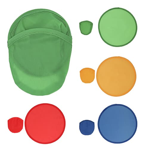 Frisbee plegable de tela. Incluye funda.