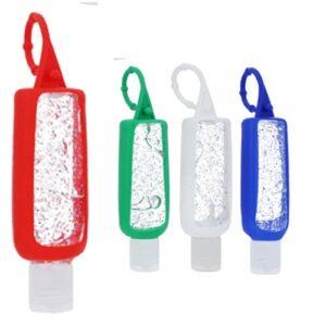 Gel antibacterial en botella de plástico