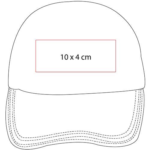 GEP 003 R gorra de algodon color rojo 2
