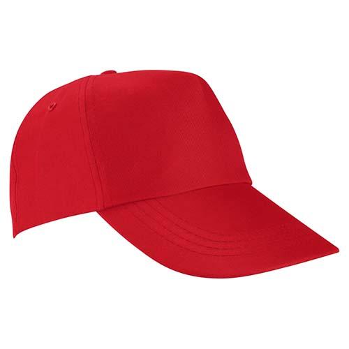 GEP 003 R gorra de algodon color rojo 3
