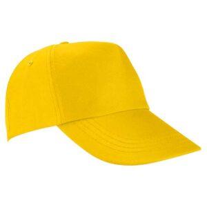 GEP 003 Y gorra de algodon color amarillo