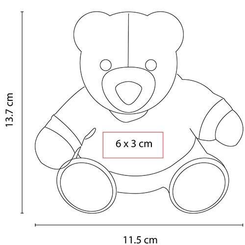 GM 040 R oso teddy bear color rojo 3