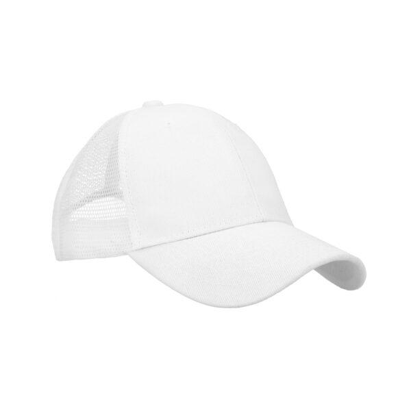 Gorra de poliéster con malla en la parte-3