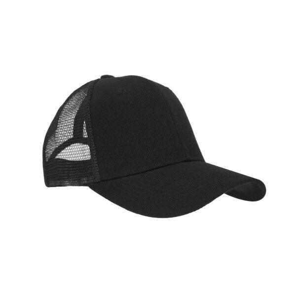 Gorra de poliéster con malla en la parte-4