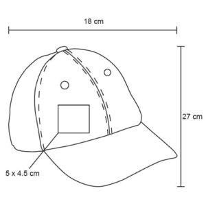 Gorra de poliéster con malla en la parte-5
