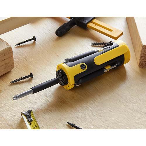 HER 045 Y desarmador multiple vindel amarillo