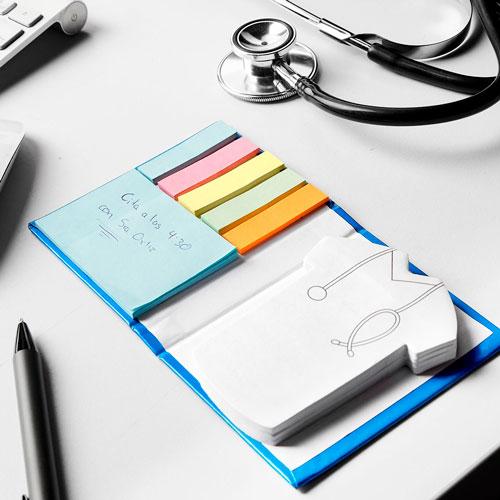 HL 045 A porta notas doctor color azul