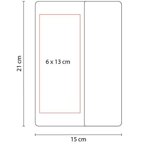 HL 2100 R libreta bok color rojo 2