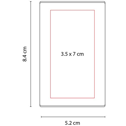HL 6035 B porta notas ventall color blanco 2