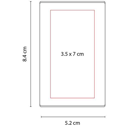 HL 6035 R porta notas ventall color rojo 2