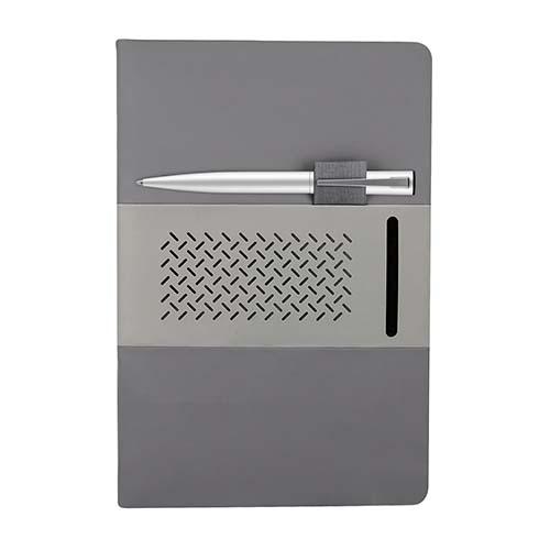 HL 9015 G libreta quercus color gris