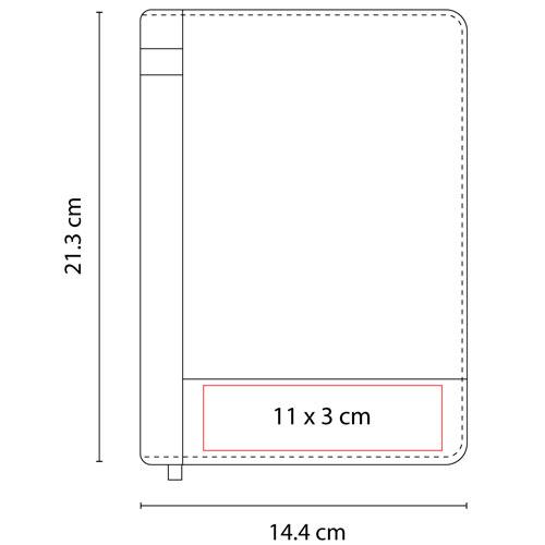HL 9017 N libreta golubac color negro 4