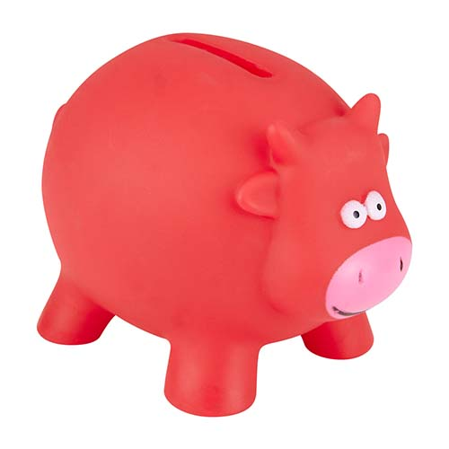 INF 045 R alcancia cow color rojo 4