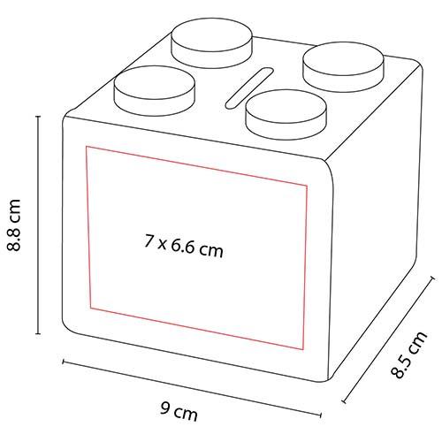 INF 100 R alcancia cubos color rojo 3