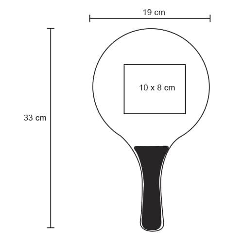 Juego de raquetas de plástico y pelota.-2