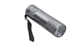 Lámpara metálica con 9 LEDS de luz