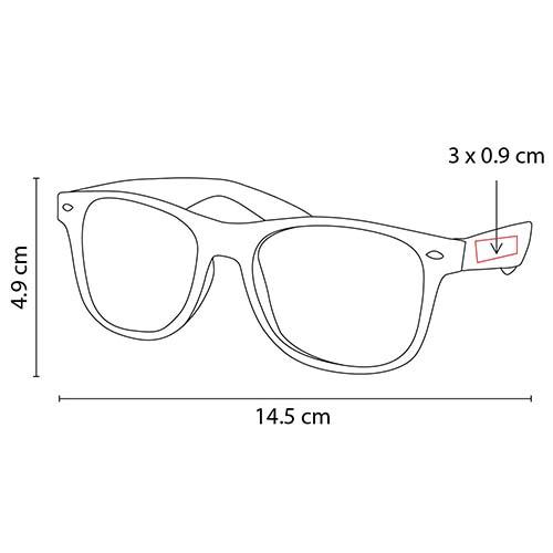 LEN 006 A lentes maroni color azul 3